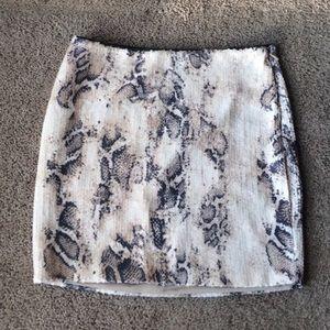 Bebe Snakeskin Skirt